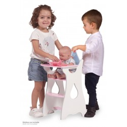 Cadeira Elevada Madeira de Bonecas Martín De Cuevas Toys 55429 | De Cuevas Toys
