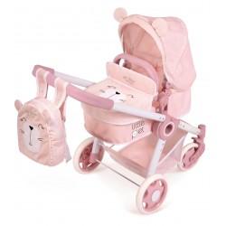 Carro de Bonecas Dobrável Animaizinhos Little Pet 3x1 De Cuevas Toys 80539