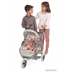 Carro de Bonecas Dobrável Duplo Reborn De Cuevas Toys 90331 | De Cuevas Toys