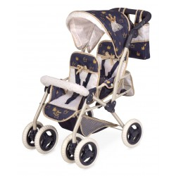 Carro de Bonecas Cadeira Dupla Dobrável Top Collection De Cuevas Toys 90332