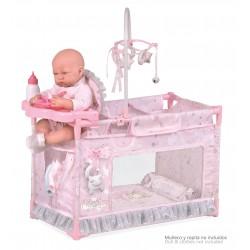 Berço Parque Trocador Pequeno de Bonecas Magic María De Cuevas Toys 53134