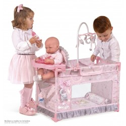 Berço Parque Trocador Pequeno de Bonecas Magic María De Cuevas Toys 53134 | De Cuevas Toys