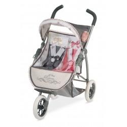 Carro de Bonecas Dobrável Duplo Reborn DeCuevas Toys 90331