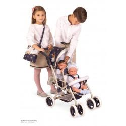 Carro de Bonecas Cadeira Dupla Dobrável Top Collection DeCuevas Toys 90332 | DeCuevas Toys