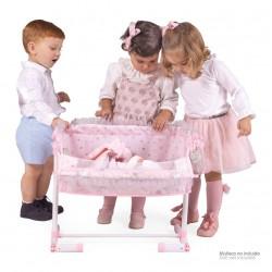 Berço de Bonecas Regulável Dorme Comigo Magic María DeCuevas Toys 51234 | DeCuevas Toys